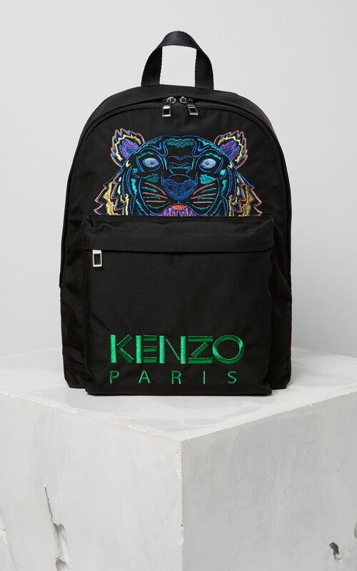 BLACK 'Holiday Capsule Collection' Tiger Backpack for unisex KENZO