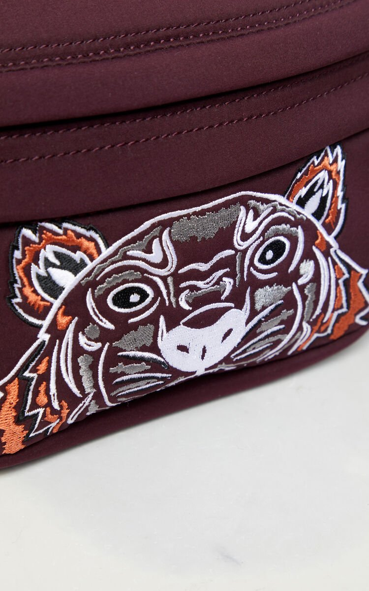 BORDEAUX Neoprene Tiger bumbag for unisex KENZO