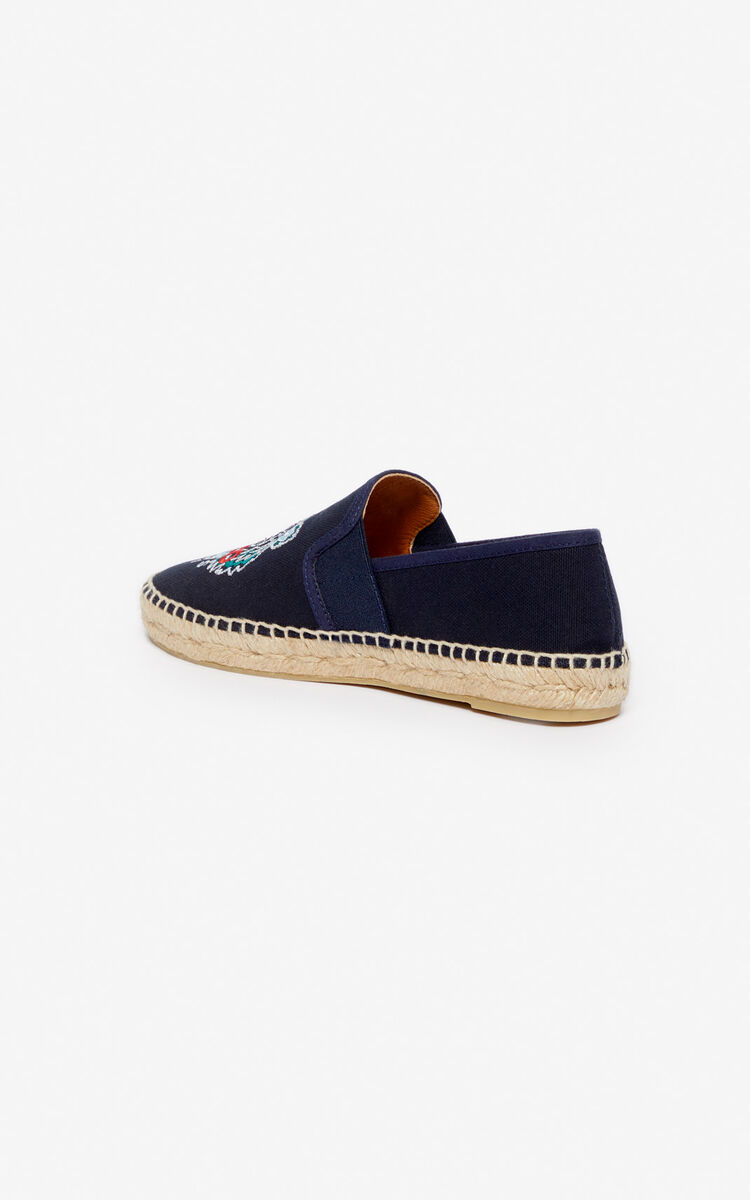 NAVY BLUE Tiger espadrilles for unisex KENZO