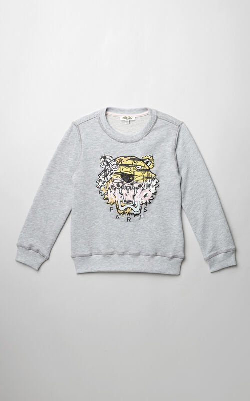 DEEP PINK Tiger x Houndstooth sweatshirt  for women KENZO