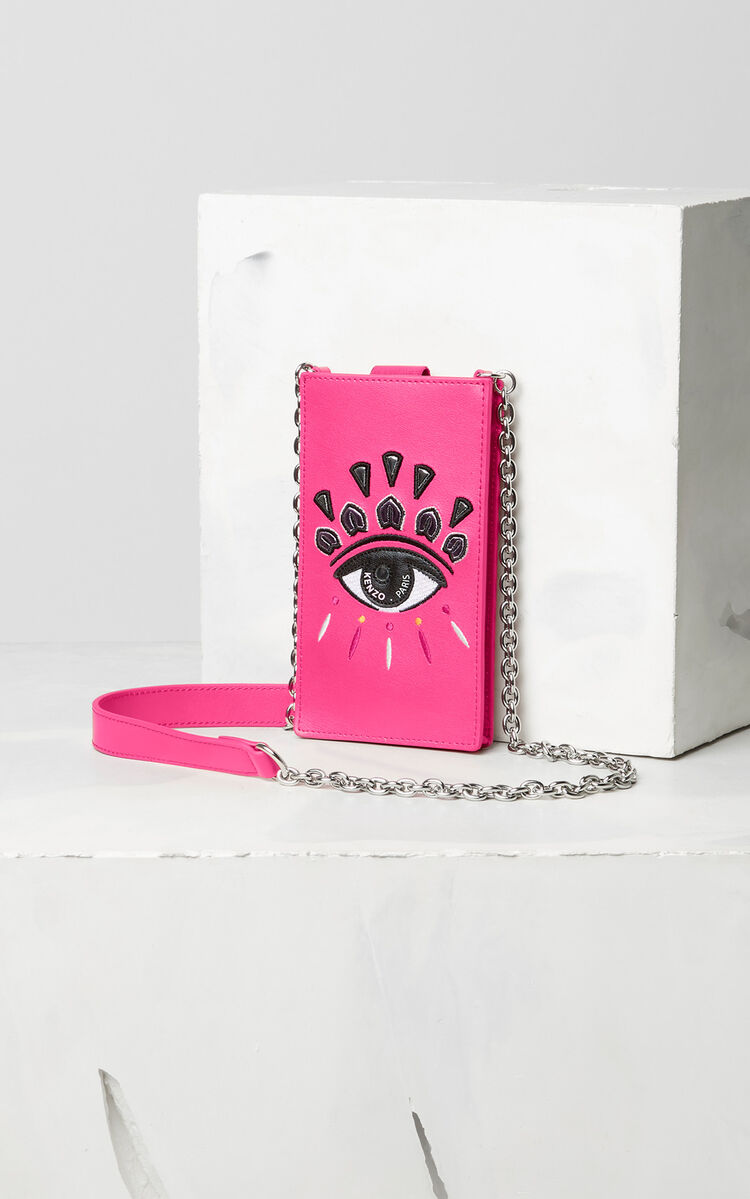 DEEP FUSCHIA Eye phone case with chain for unisex KENZO