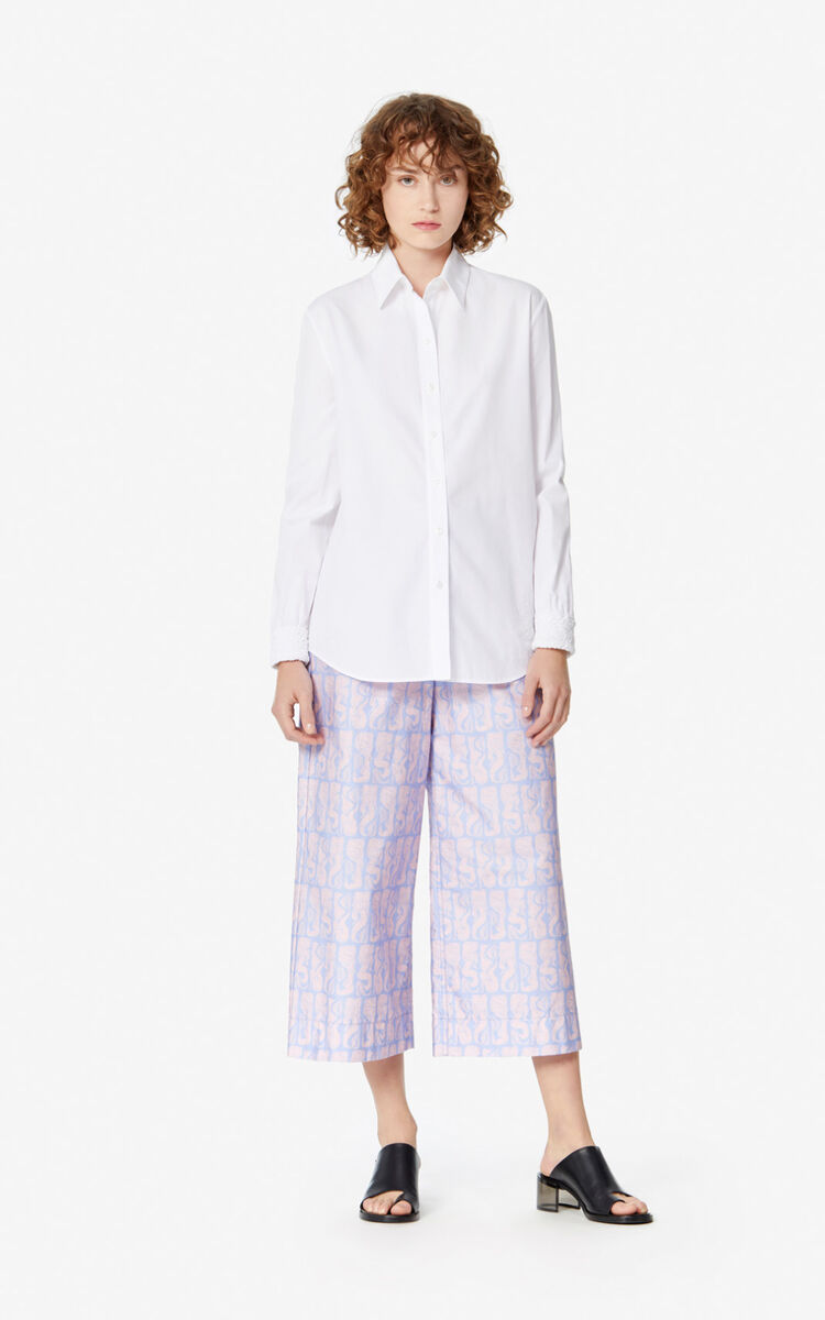 WHITE Smocked shirt for women KENZO