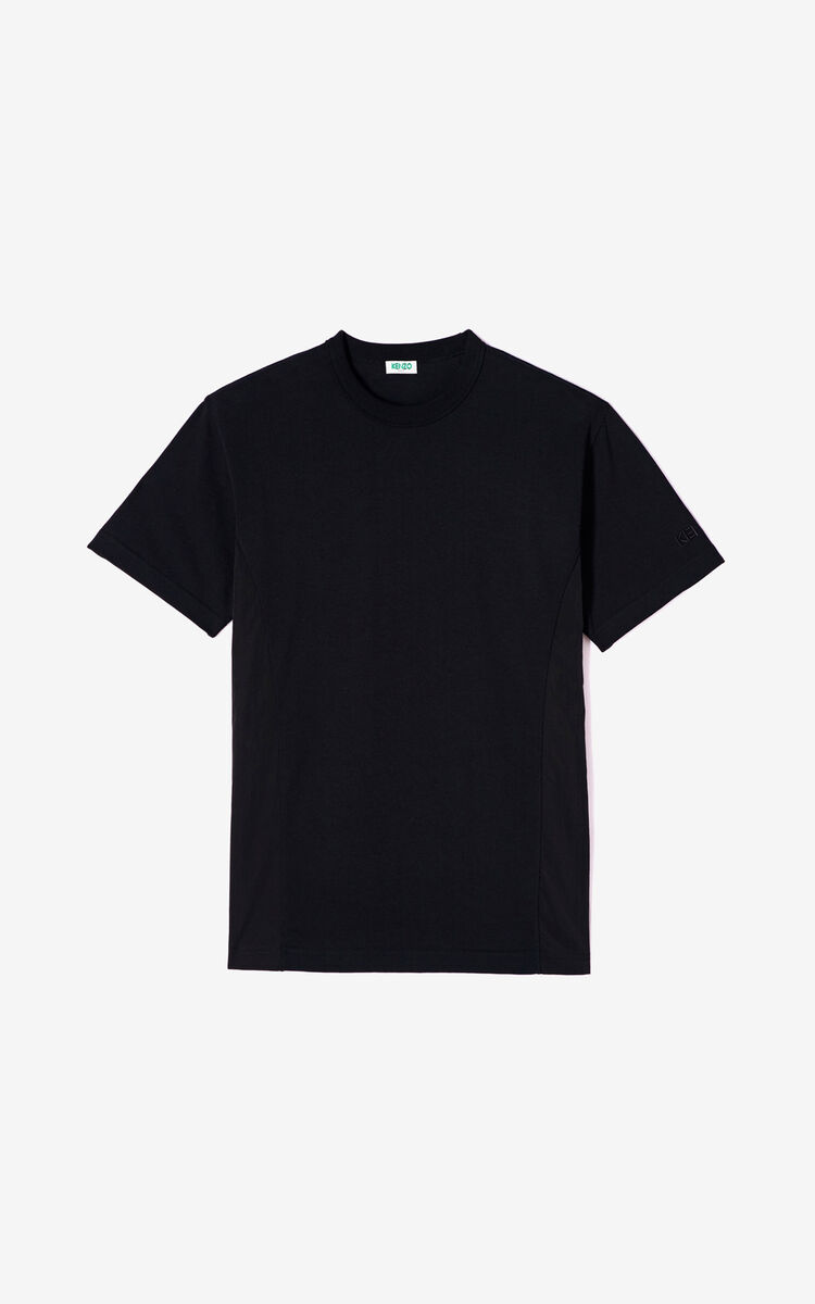 BLACK Bi-material T-shirt for men KENZO