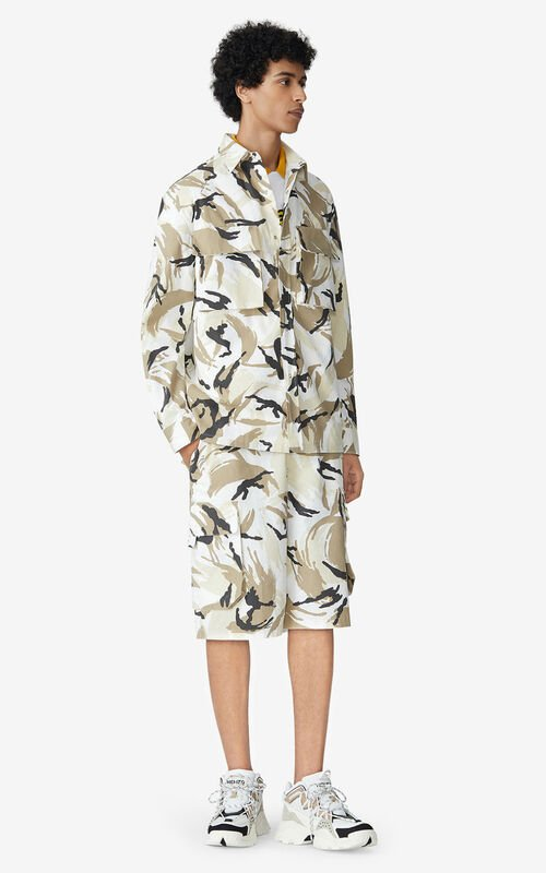 OFF WHITE 'Tropic Camo' overshirt for men KENZO