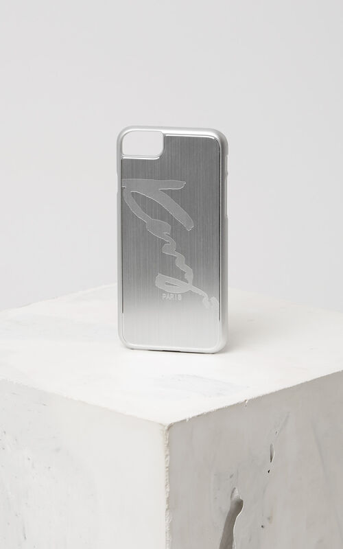 SILVER KENZO Signature iPhone 7 case for unisex