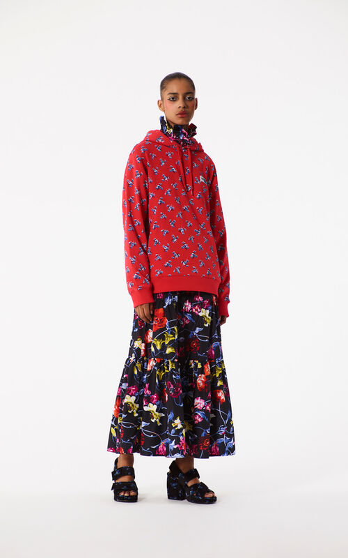 MEDIUM RED 'May Flowers' Sweatshirt for women KENZO