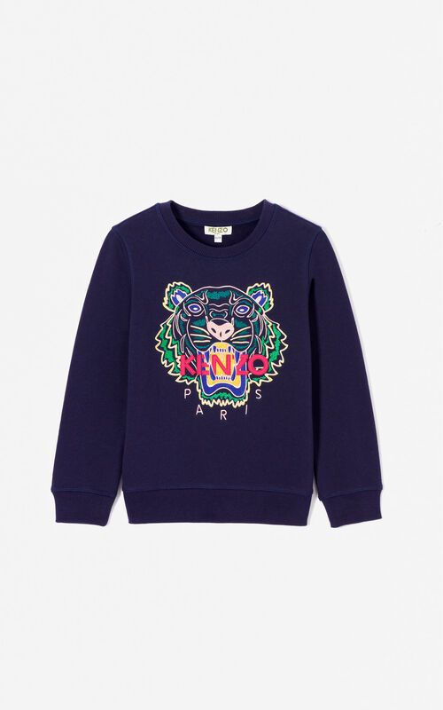 NAVY BLUE Tiger sweatshirt for women KENZO