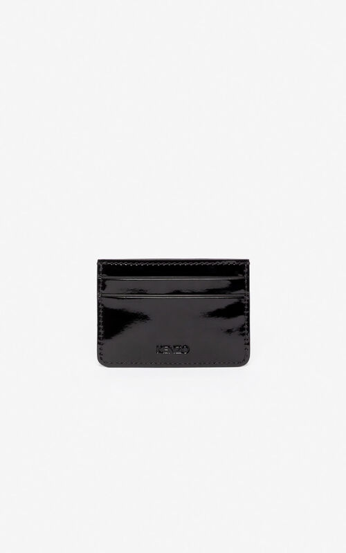BLACK Tiger card holder for unisex KENZO