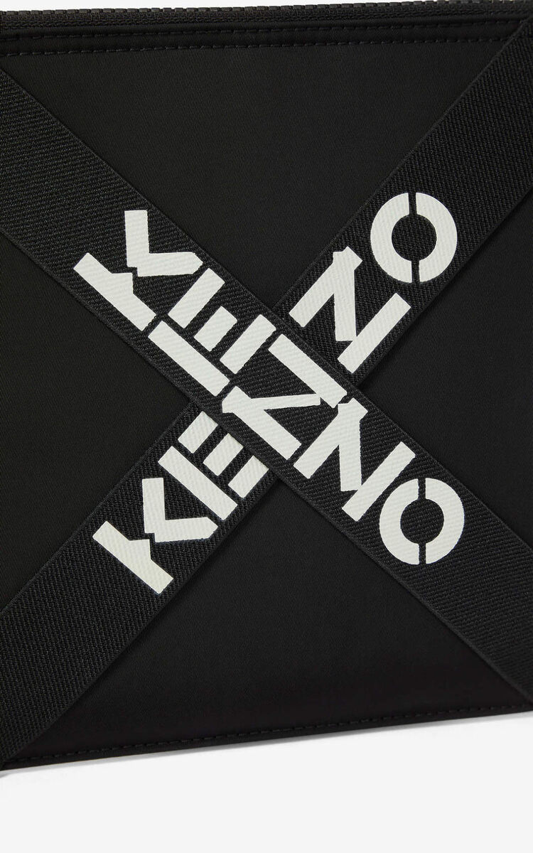 BLACK KENZO Sport large clutch  for men
