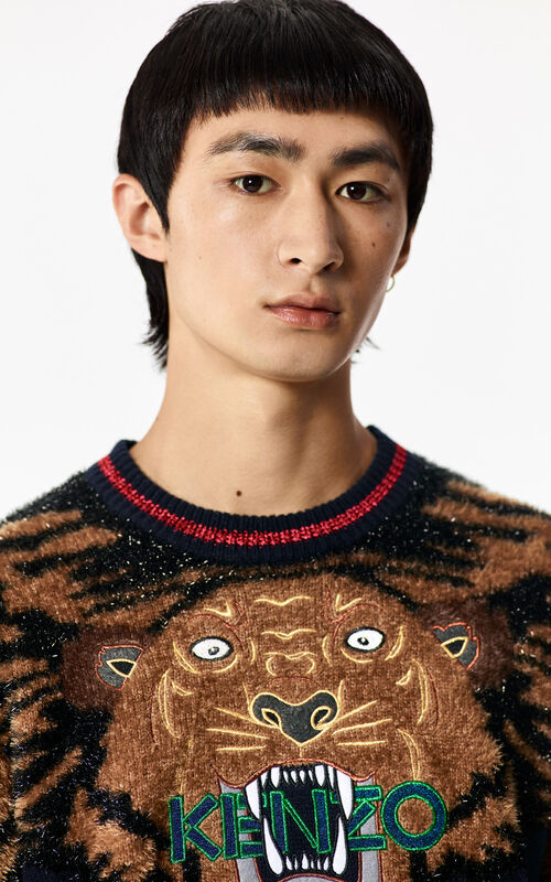 INK 'Holiday Capsule Collection' embroidered Tiger wool jumper for women KENZO