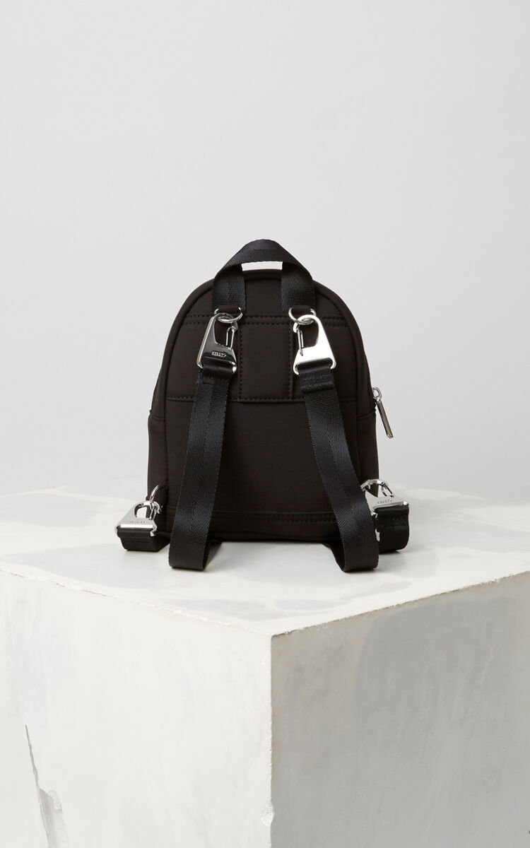 BLACK Mini Neoprene Tiger Backpack for unisex KENZO