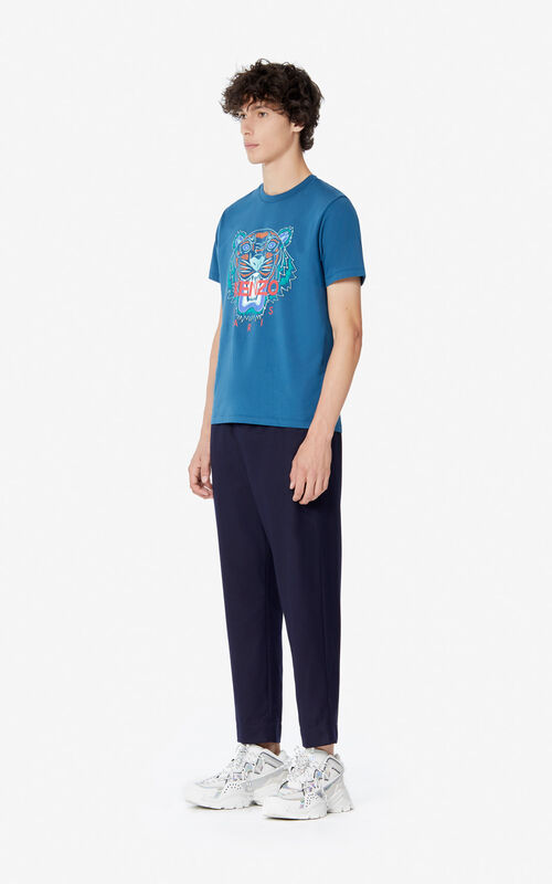 BLUE 'Holiday Capsule' Tiger T-shirt for men KENZO