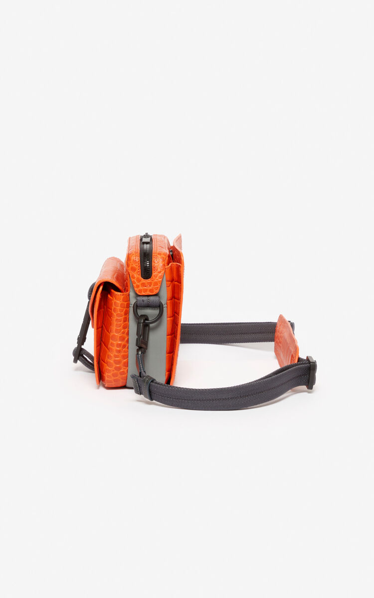DEEP ORANGE Hiker crossbody bag for unisex KENZO