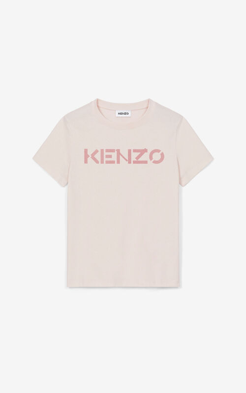FADED PINK KENZO Logo T-shirt for unisex