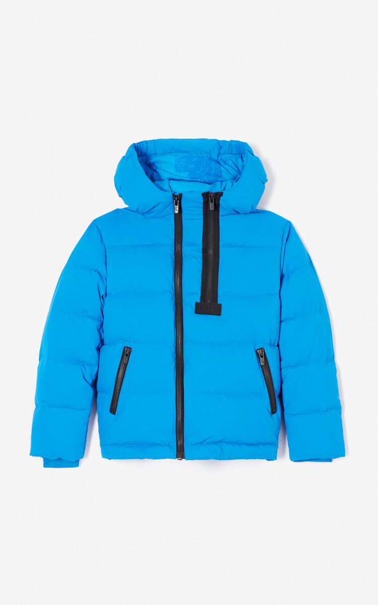 FRENCH BLUE Quilted puffa jacket for men KENZO