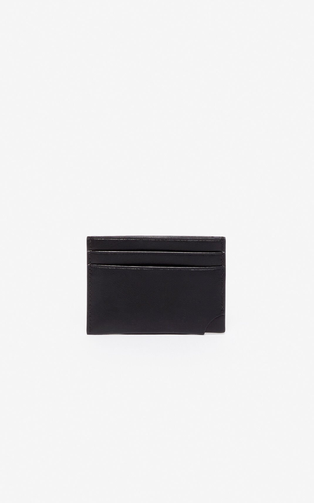 BLACK 'Jumping Tiger' card holder for men KENZO