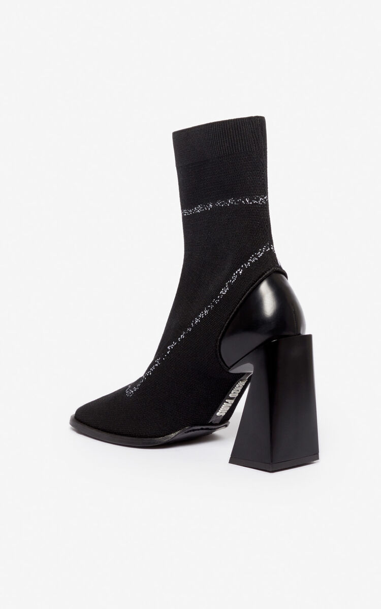 BLACK K-Square ankle boots for unisex KENZO
