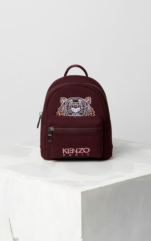 BORDEAUX Mini Neoprene Tiger Backpack for unisex KENZO