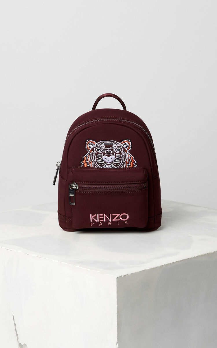 BORDEAUX Mini Neoprene Tiger Backpack for women KENZO