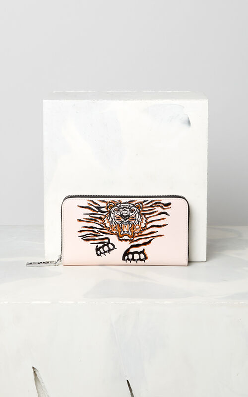 FADED PINK 'Crawling Tiger' Wallet for unisex KENZO