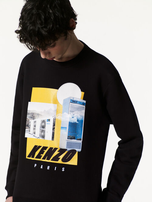 Tropical Ice Graphic Sweatshirt, BLACK, KENZO