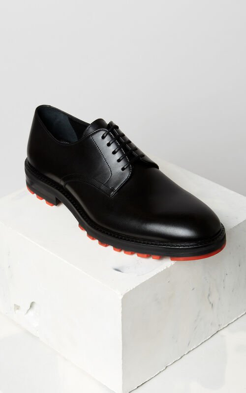 BLACK Georgia derby shoes for men KENZO