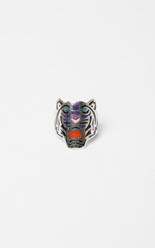 DEEP PINK Colored Tiger ring for unisex KENZO