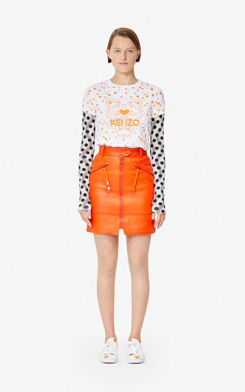 DEEP ORANGE 'Dots' Tiger T-shirt for women KENZO