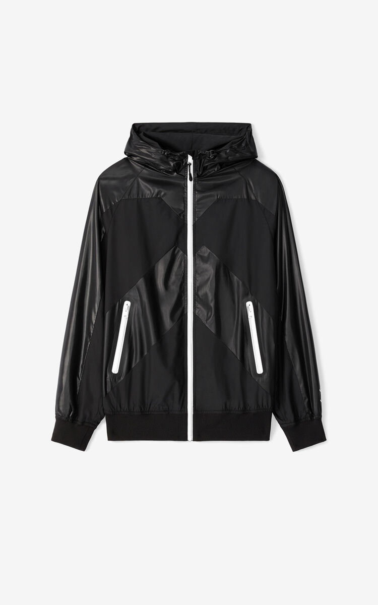 BLACK KENZO Sport 'Little X' wind stopper for men