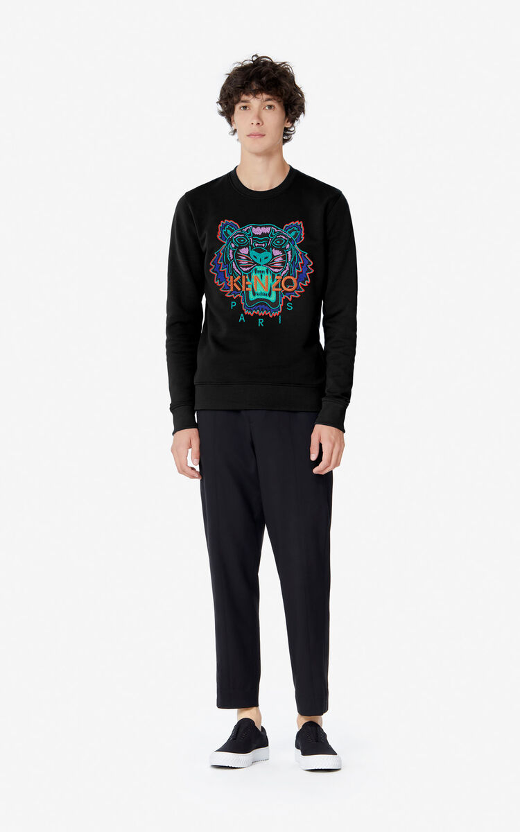 BLACK 'Holiday Capsule' Tiger sweatshirt for men KENZO