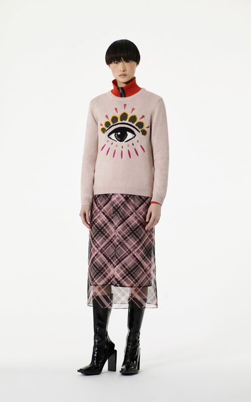 FADED PINK Eye sweater dress for women KENZO