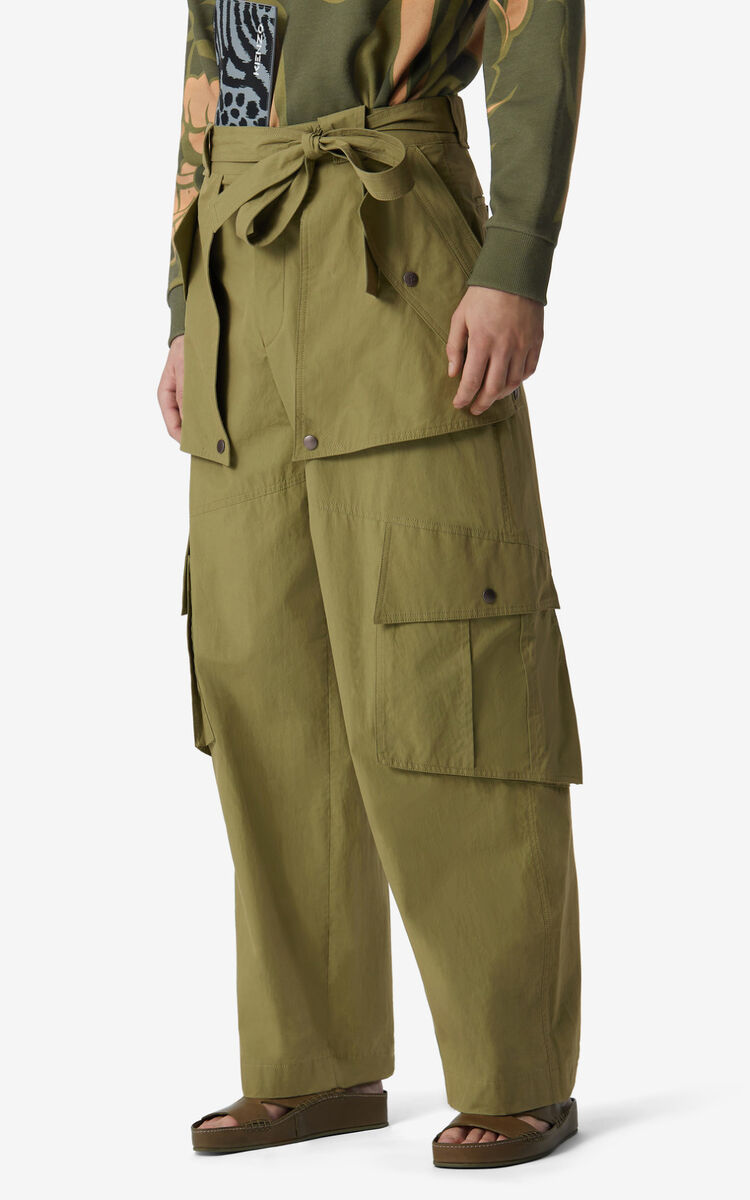 OLIVE Wide cargo trousers for women KENZO