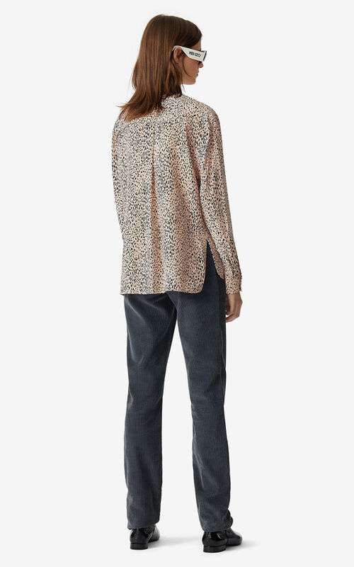 FADED PINK 'Lepoard' buttoned blouse for women KENZO