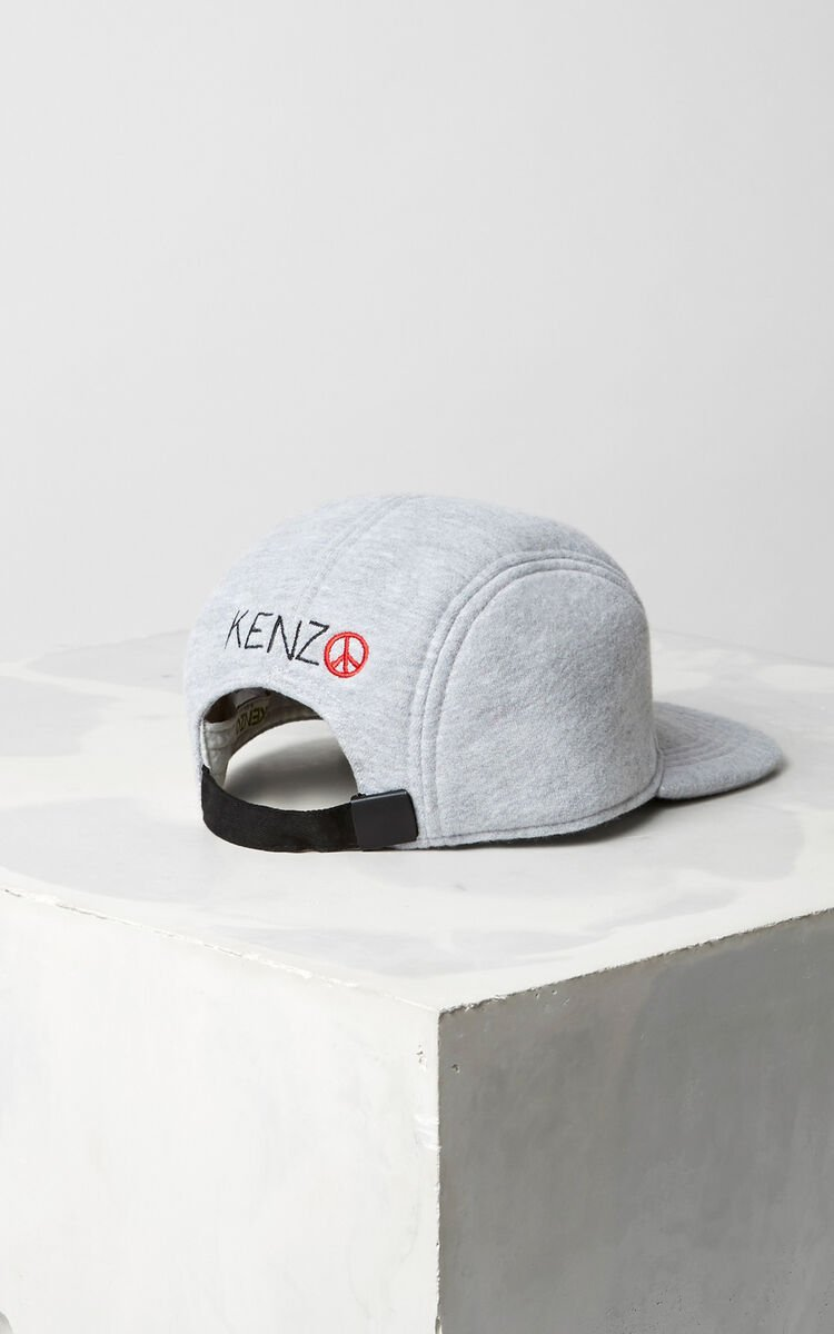 MIDDLE GREY Winking Flat Cap  for women KENZO