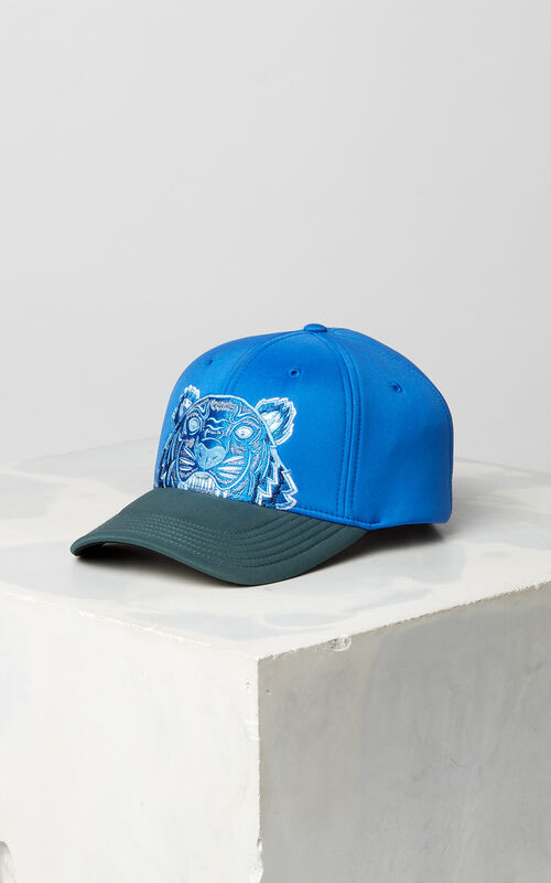 FRENCH BLUE Bicolore neoprene Tiger cap for men KENZO