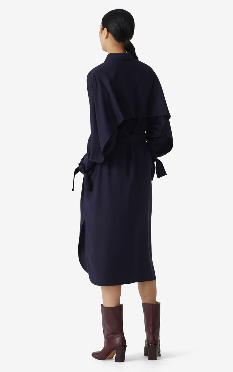 NAVY BLUE Belted shirt dress for women KENZO