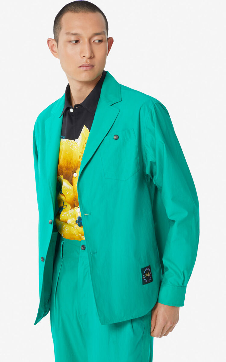 GREEN Lightweight suit jacket for men KENZO