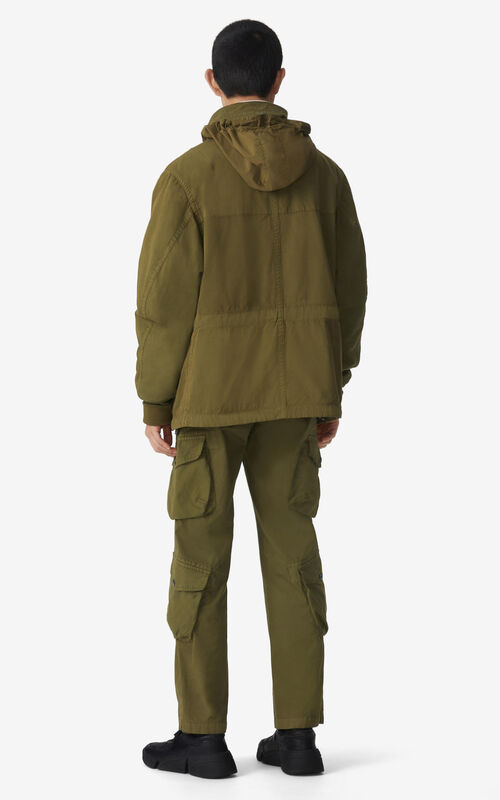 KHAKI Cargo trousers for men KENZO