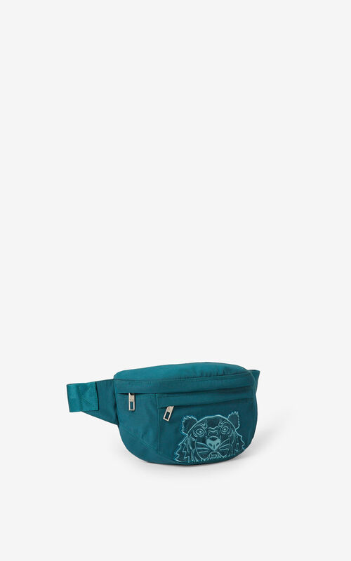DUCK BLUE Kampus Tiger canvas belt bag for women KENZO