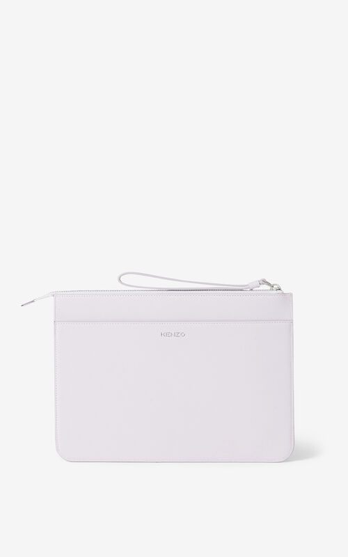 WISTERIA KENZO K leather clutch for unisex