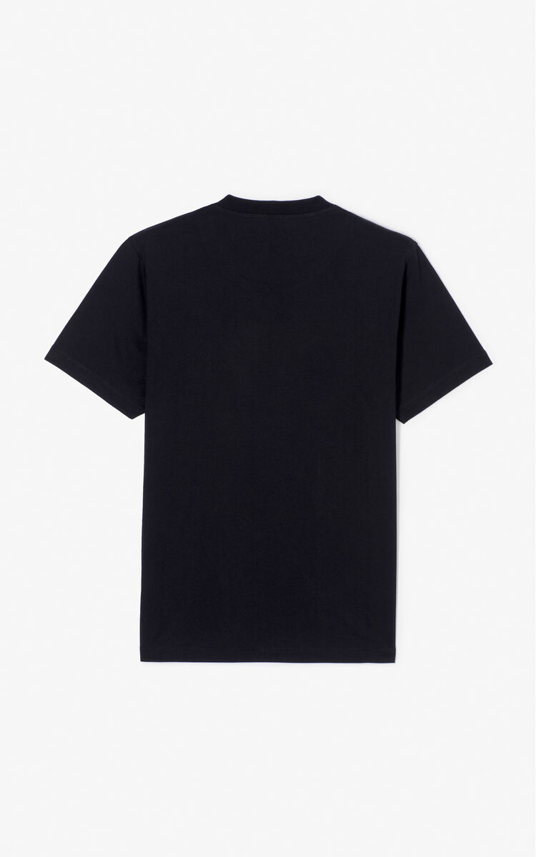 BLACK 'Tiger Head' T-Shirt 'Go Tigers Capsule' for men KENZO
