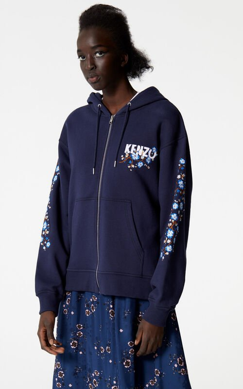 INK 'Cheongsam Flower' zip-up sweatshirt for women KENZO