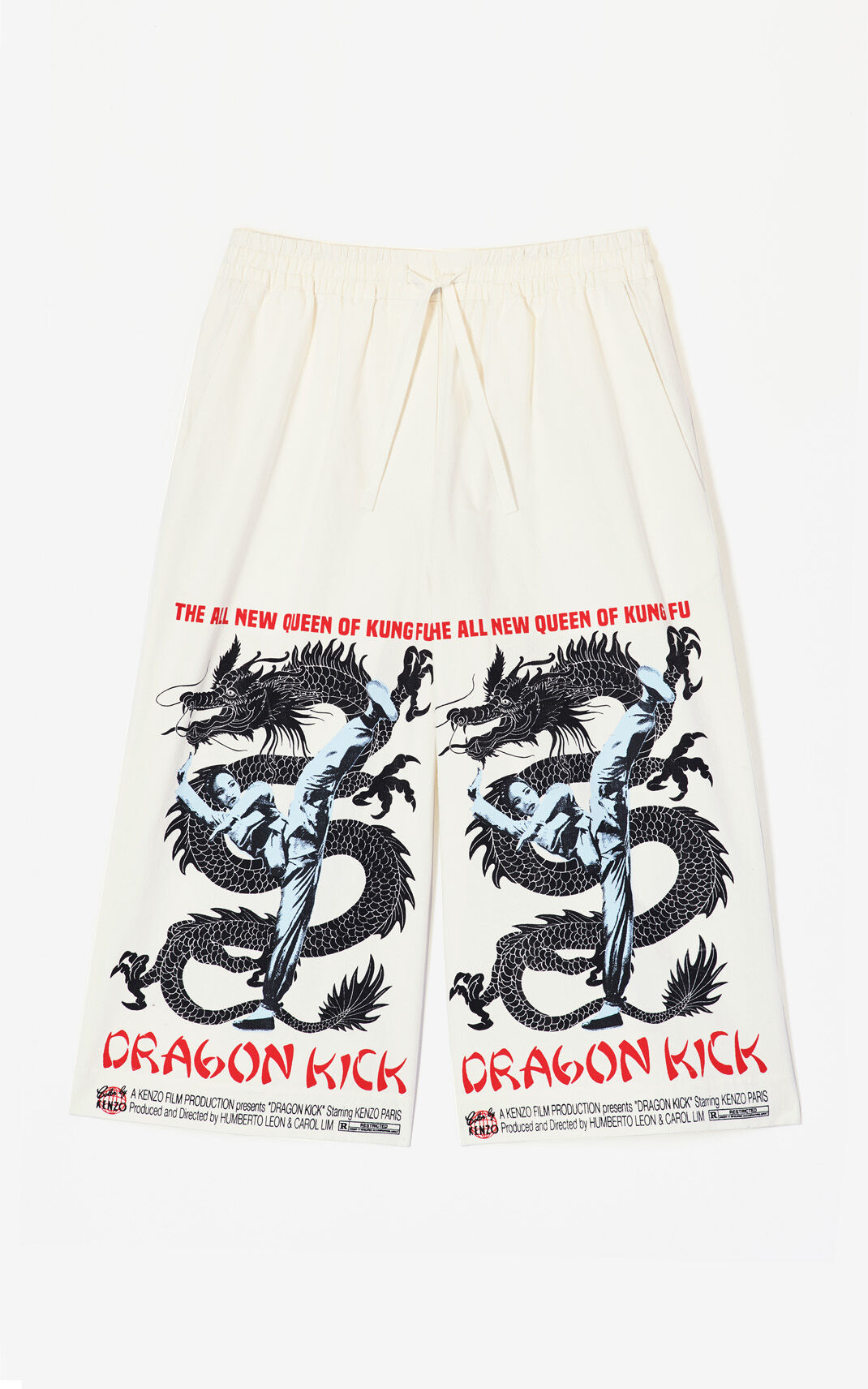 WHITE 'Dragon Kick' culottes for women KENZO