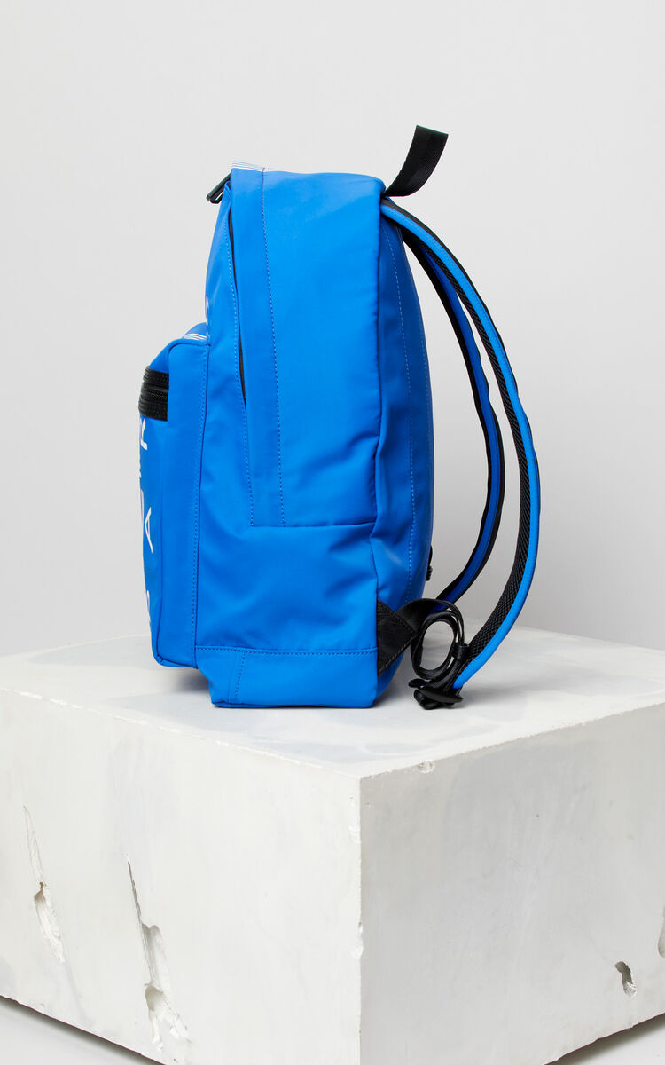 FRENCH BLUE Large KENZO Logo backpack for men