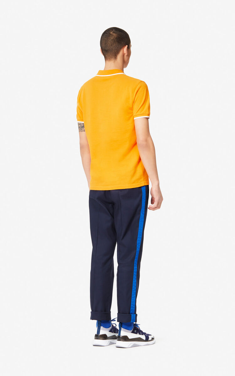 MEDIUM ORANGE Fitted Tiger polo shirt for men KENZO