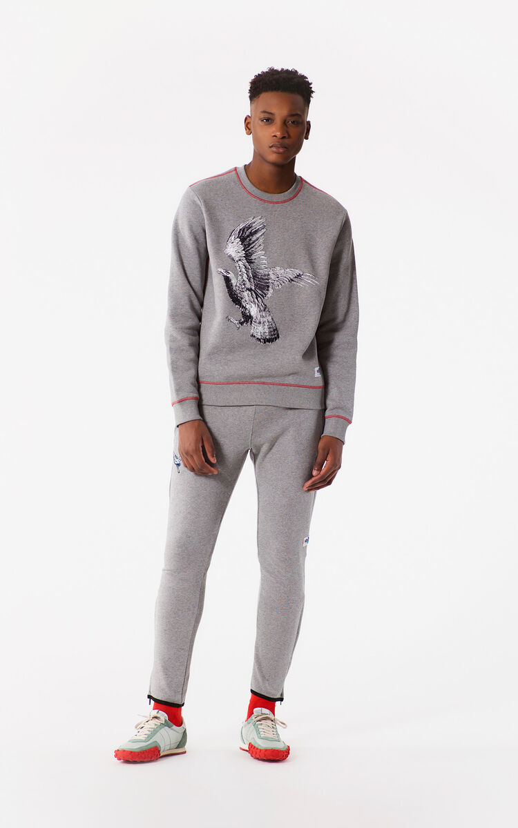 DOVE GREY Pegged sweatpants for women KENZO