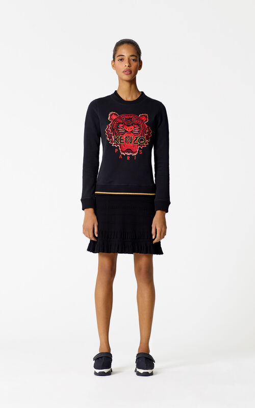 BLACK 'Chinese NY Capsule Collection' Tiger Sweatshirt for women KENZO
