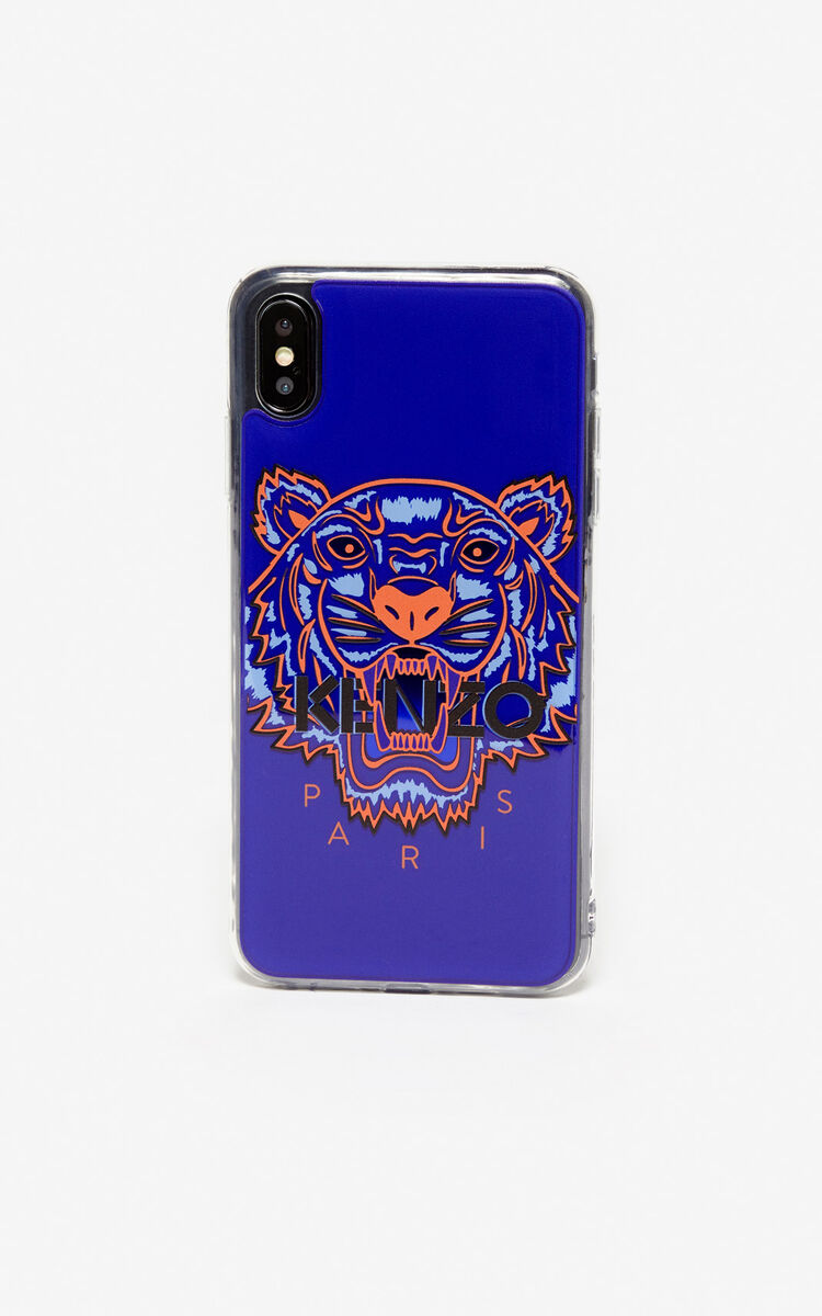 DEEP SEA BLUE Tiger iPhone XS Max case for unisex KENZO