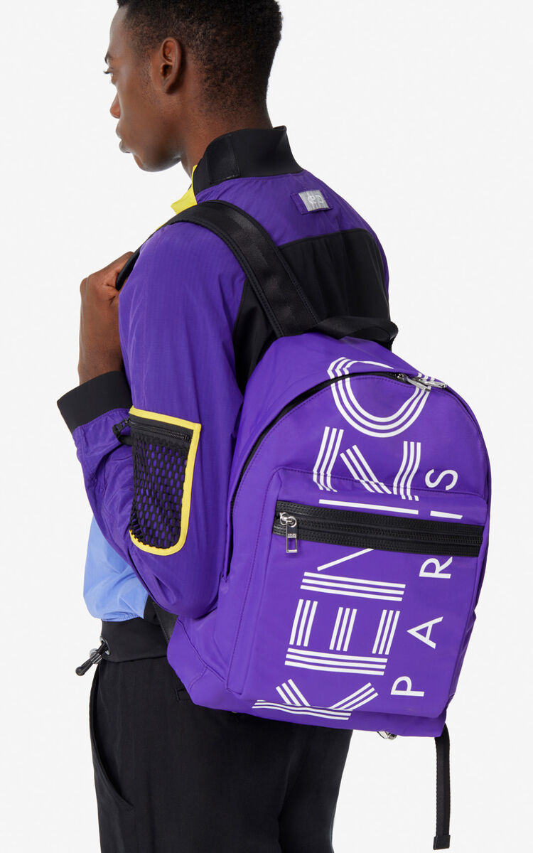 AUBERGINE Large KENZO Logo backpack for unisex