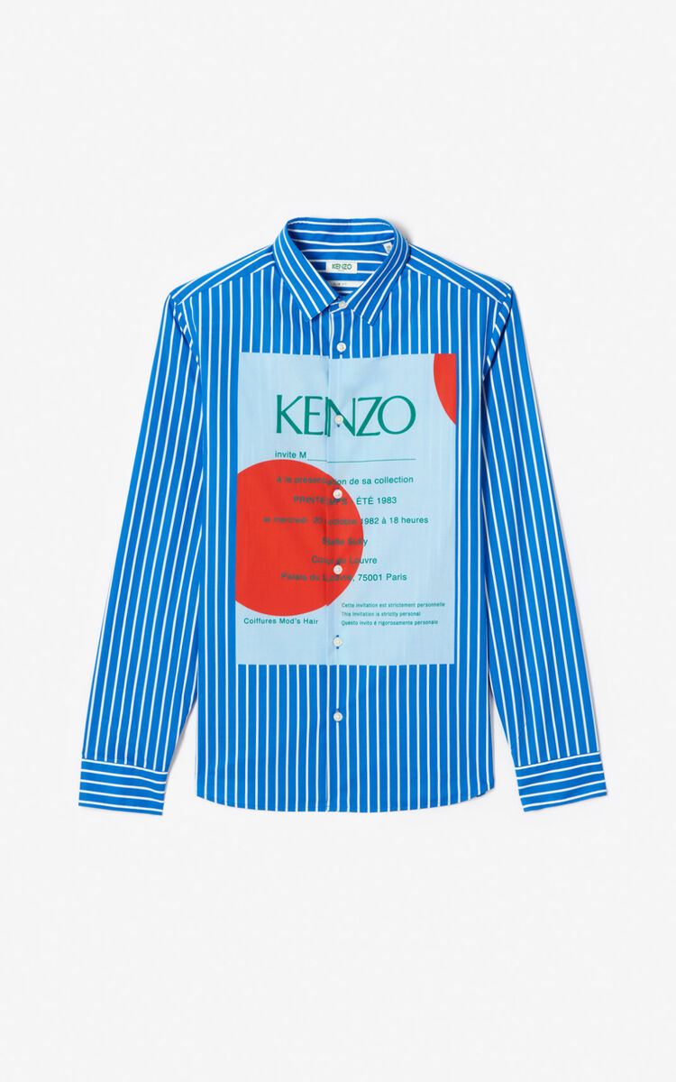 COBALT Striped 'Wedding invitation' shirt for men KENZO